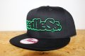 [seedleSs] sd New era snap back -Black/Green-