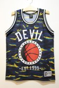 ☆SALE50%オフ [DEVILUSE] DEVIL Basketball Tank -Navy-