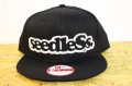 [seedleSs] sd New era snap back -Black/White-