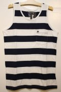 ☆SALE30%OFF[Deviluse] Deviluse Border Tank Top -White/Navy-