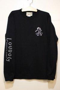 [LOU DOG] LOUDOG skate ロングスリーブ -black-