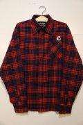 [range] range original check nel shirts -Red×Navy-