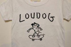 画像2: [LOU DOG] LOU DOG skate KIDS Tee(100cm/110cm/120cm/130cm) -ホワイト-