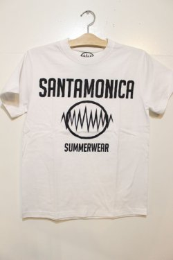 画像1: [SANTAMONICA SUMMER WEAR] SMSW logo Tee -White/Black-