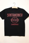[SANTAMONICA SUMMER WEAR] SMSW logo Tee-Black/Red-