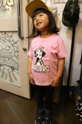 [LOU DOG] LOU DOG Girls-2 Tee(100cm〜130cm)-ライトピンク-
