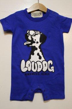 画像1: [LOU DOG] LOU DOG babyロンパース(半袖)-ロイヤルブルー-