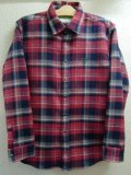 ☆SALE50%OFF[seedleSs] checky nel shirts -red base-  ※Mサイズのみ