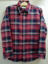 ☆SALE30%OFF[seedleSs] checky nel shirts -red base-  ※Mサイズのみ
