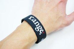 画像1: [range] range rubber bracelet -Black/White-