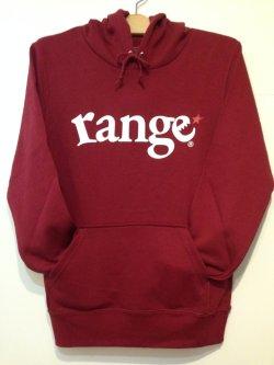 画像1: [range] range logo sweat pullover Hoody-Burgundy- ※Sサイズのみ