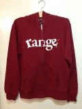 [range] range logo sweat zip hoody-バーガンディー-