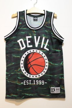 画像1: ☆SALE50%オフ [DEVILUSE] DEVIL Basketball Tank -Green- ※S,Mサイズのみ