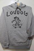 [LOU DOG] LOU DOG Skate プルパーカ -グレー-