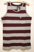 ☆SALE30%OFF[Deviluse] Deviluse Border Tank Top -Grey/Maroon- ※XLサイズのみ