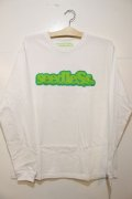 [seedleSs]CoopRegular L/S Tee -White-
