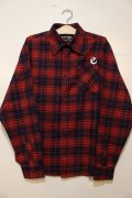 [range] range original check nel shirts -Red×Navy-