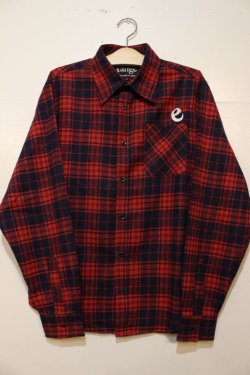 画像1: ☆SALE30%OFF [range] range original check nel shirts -Red×Navy- ※Mサイズのみ