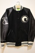 ☆SALE30%オフ[seedleSs] Stadium JKT -Black/White- ※Mサイズのみ