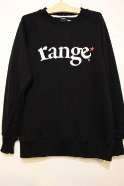 画像1: [range]logo raglan crew sweat-Black-