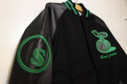 画像3: ☆SALE30%オフ[seedleSs] Stadium JKT -Black/Green- ※Mサイズのみ