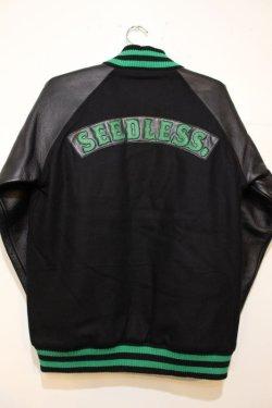 画像4: ☆SALE30%オフ[seedleSs] Stadium JKT -Black/Green- ※Mサイズのみ