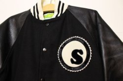 画像2: ☆SALE30%オフ[seedleSs] Stadium JKT -Black/White- ※Mサイズのみ