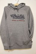 【BRIXTON】 Mach Hood Fleece-Grey-