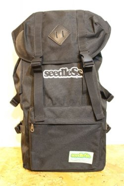 画像1: [seedless] Coverd back pack-Black-