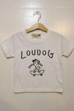 画像1: [LOU DOG] LOU DOG skate KIDS Tee(90cm / 100cm/110cm/120cm/130cm) -ホワイト-