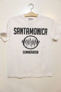 [SANTAMONICA SUMMER WEAR] SMSW logo Tee -White/Black-