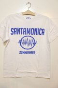 [SANTAMONICA SUMMER WEAR] SMSW logo Tee -White/Blue-
