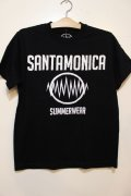 [SANTAMONICA SUMMER WEAR] SMSW logo Tee-Black/White-