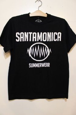 画像1: [SANTAMONICA SUMMER WEAR] SMSW logo Tee-Black/White-