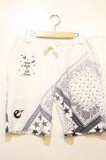 [range] pile bandanna print shorts -white-