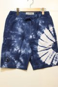 [seedleSs]sd tie dye shorts -navy-