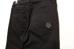 画像3: [Deviluse] PENTAGRAM Black Skiny Pants