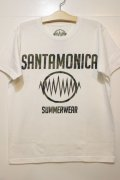 [SANTAMONICA SUMMER WEAR] SMSW logo Tee-White/Camo-