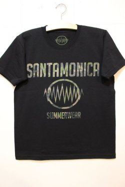 画像1: [SANTAMONICA SUMMER WEAR] SMSW logo Tee-Black/Camo-