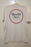 【BRIXTON】 WHEELER 2 AS S/S PRT-White-※Lサイズのみ