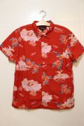 【BRIXTON】BUELLER AS S/S WVN -Red/Cream-※Lサイズのみ