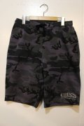 [seedleSs]sd original stash pocket sweat shorts -Gray camo- ※Lサイズのみ