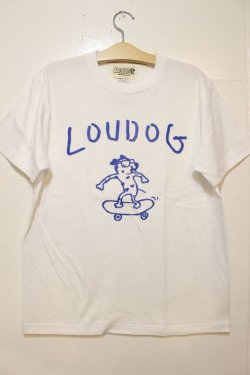 画像1: [LOU DOG] LOUDOG Skate S/STee-White&Blue