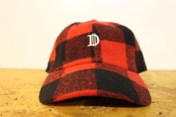 画像1: [Deviluse]Check D Cap-Black/Red-