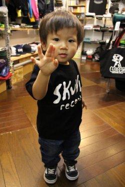 画像1: [SKUNK records] SKUNK KIDS S/STee(100cm/110cm/120cm/130cm)-BLACK-