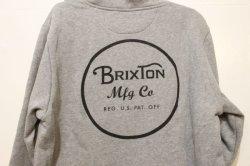 画像4: 【BRIXTON】WEEELER INTL HOOD FLEECE -HEATHERGREY/BLACK-※Mサイズのみ