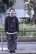 【BRIXTON】WHEELER CREW FLEECE -BLK/WHT-