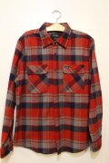 【BRIXTON】 Bowery-Red/Heather Grey/Navy-