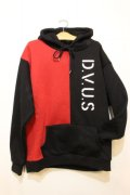 [Deviluse]Division pullover Hooded-Black/Red-