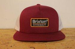 画像1: 【BRIXTON】Palmer Mesh Cap-Burgundy/Black-